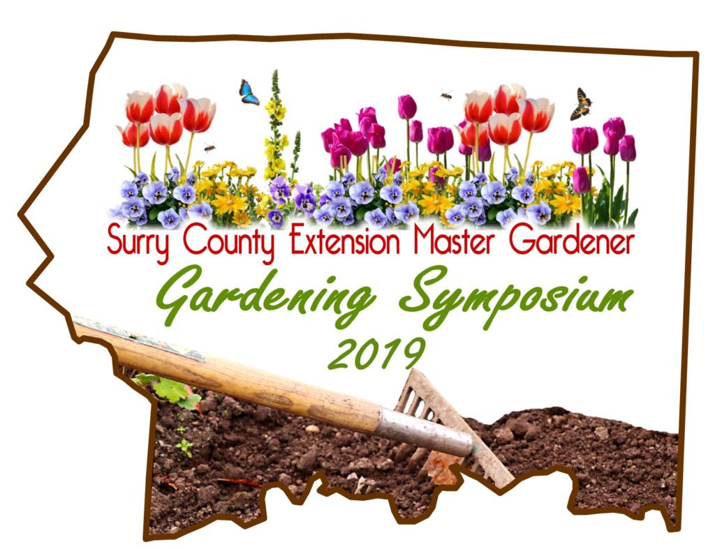Surry County Extension Master Gardener Gardening Symposium 2019 logo