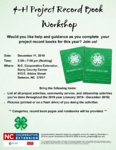 Cover photo for 4-H Project Record Book / Portfolio Workshop