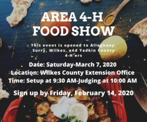 Cover photo for Area 4-H Food Show