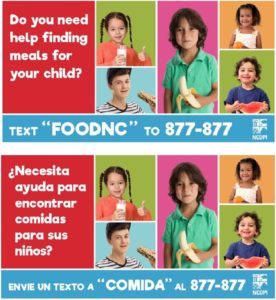 Cover photo for Meal Locator Texting Resource for Parents