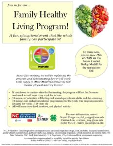 Family Healthy Living Flyer