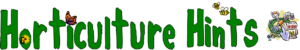 Horticulture Hints newsletter banner