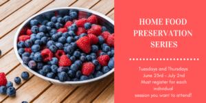 Cover photo for Home Food Preservation Series