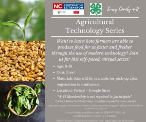 Flier for the Agricultural Technology Series