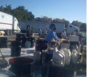 Photo of household hazardous waste collection