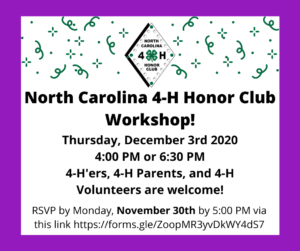 Cover photo for North Carolina 4-H Honor Club Workshop