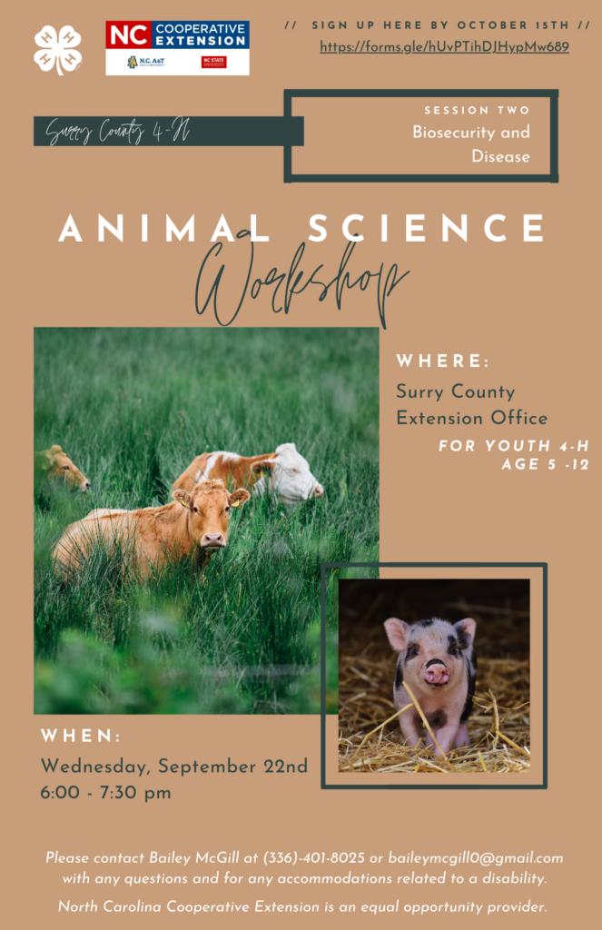 Animal Science Workshop